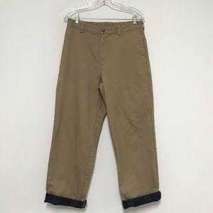 L.L. Bean Men's Flannel Lined Khaki Pants 30x29